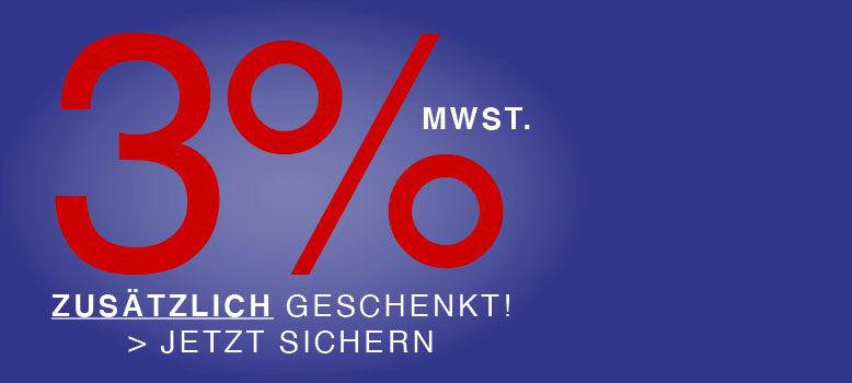 3% GESCHENKT!